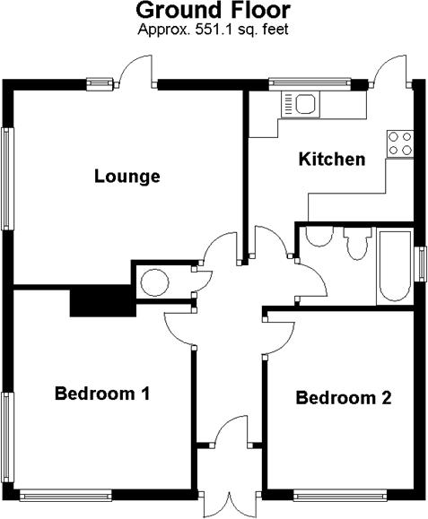 3 bedroom bunglow floor palns joy studio design gallery for Two bedroom bungalow plans