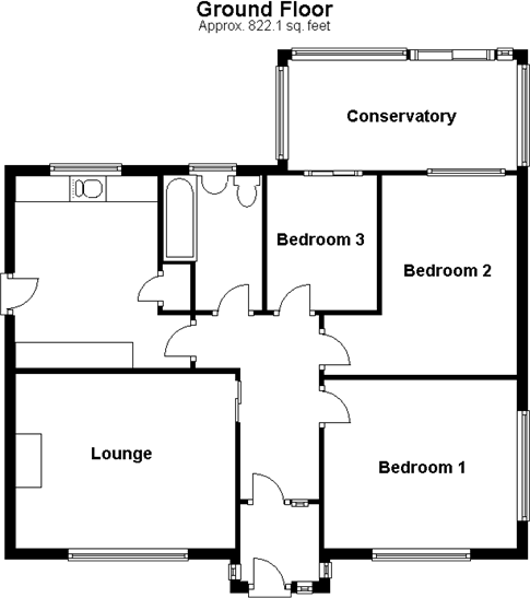 3 Bedroom Bungalow For Sale In Sholden Deal Kent Ct14: ground floor 3 bedroom plans