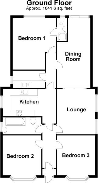 Three Bedroom Bungalow Floor Plan Joy Studio Design