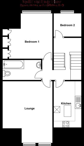 Split Level Top Floor
