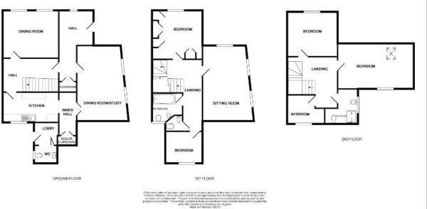 Amended Floor Plan - 15 Burley Road, Oakham, LE15