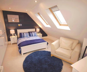 photo of beige bedroom loft conversion