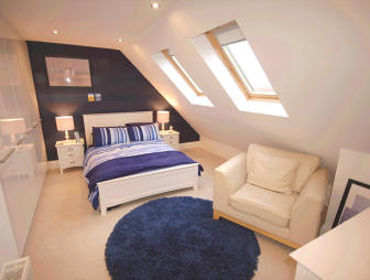 photo of beige bedroom loft conversion