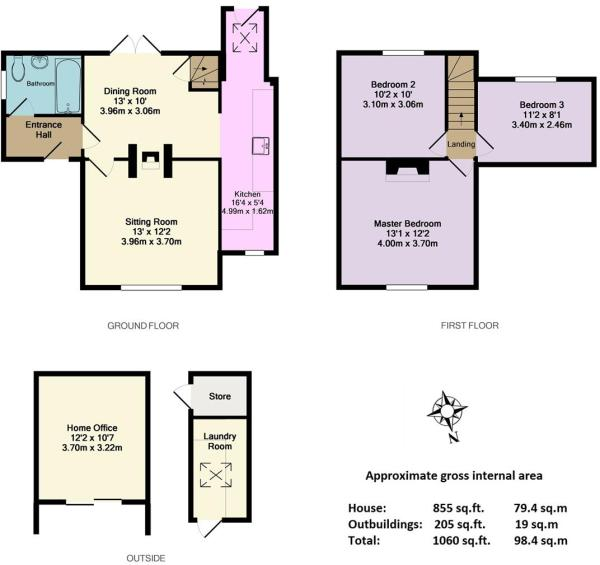1 School Cottages, B