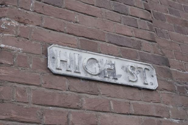 High St. sign ...