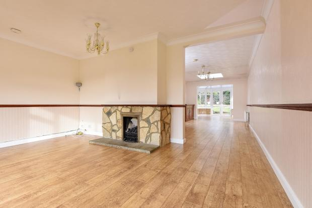 front reception through to dining area