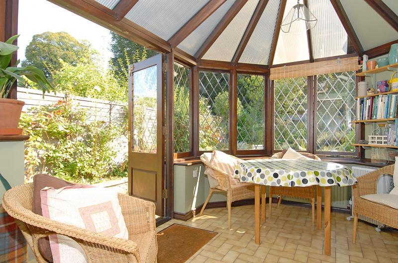 photo of beige white conservatory