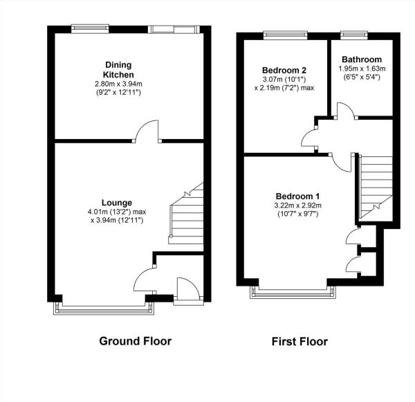 2 bedroom house for sale in linden mews lytham st annes fy8 for 15 bruyeres mews floor plans
