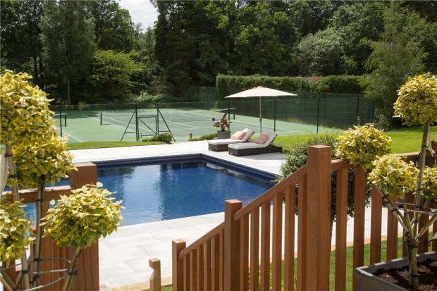 Pool & Tennis Court