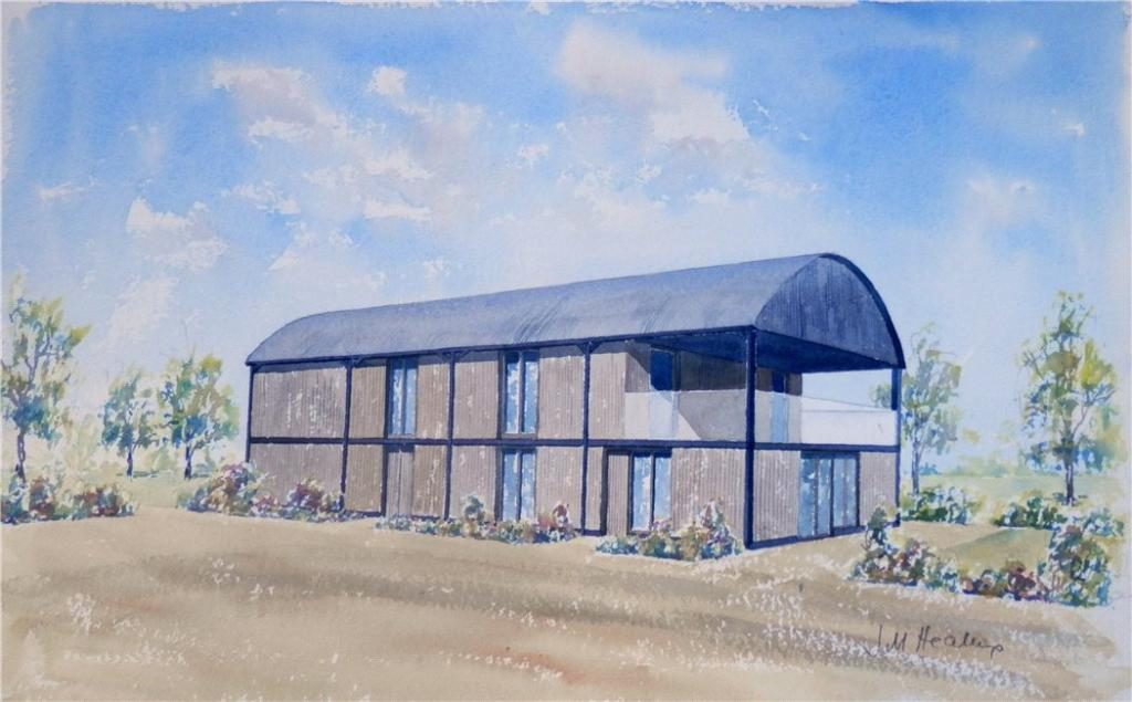 Plot for sale in dorsington road pebworth worcestershire for Steel frame barns for sale