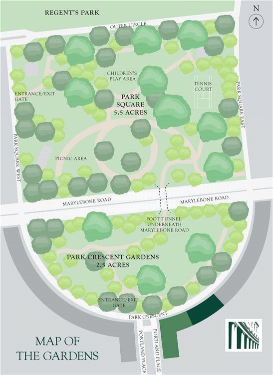 Gardens Map