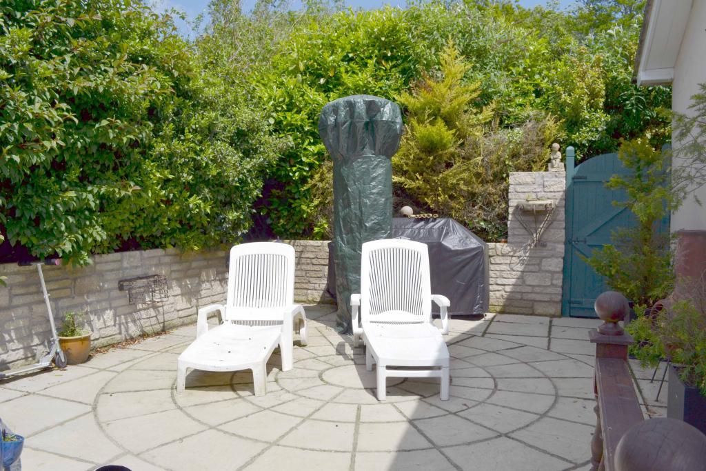 photo of garden and patio patio area