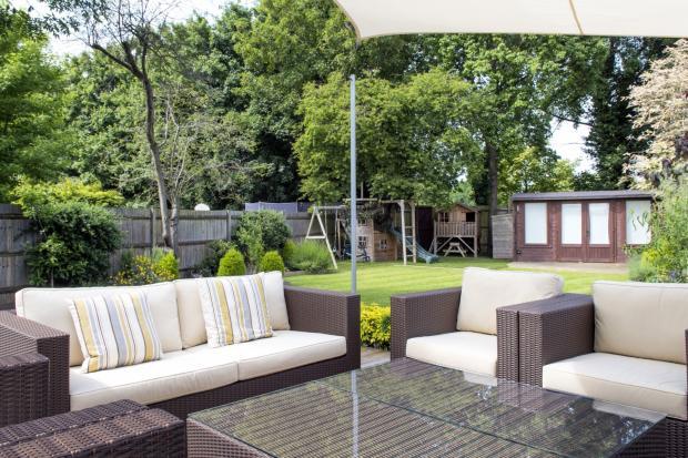 decking onto garden