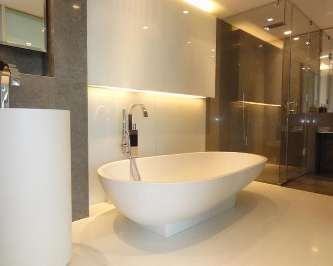 beige brown bathroom design