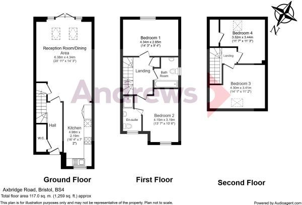 Floorplan 4 bed