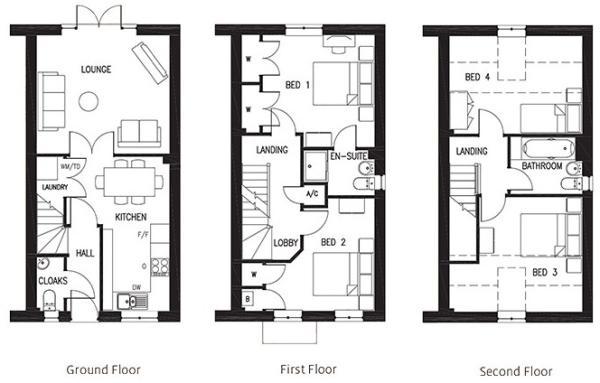 The Randolph Floorplans