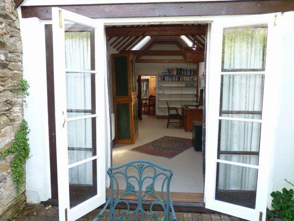 French doors to study