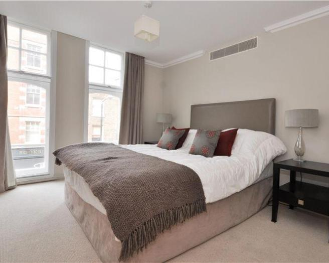 ... cool light simple beige grey silver white bedroom with big windows