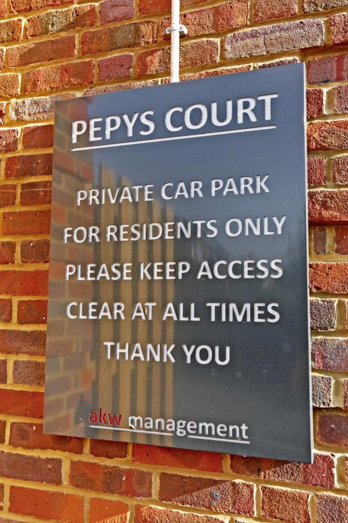 Private car park ...