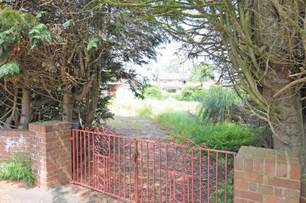 Entrance to plots
