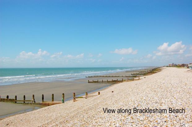 view along the beach