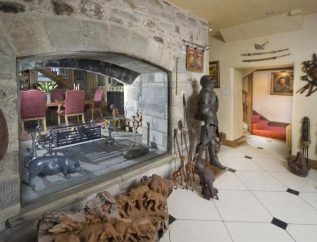 Hallway Fireplace