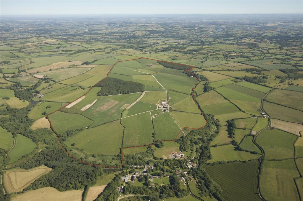 Aerial Of The Farms