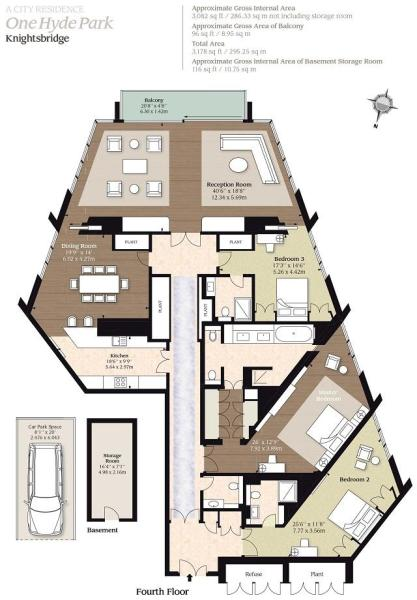 3 bedroom flat for sale in one hyde park 100 for Hyde homes floor plans