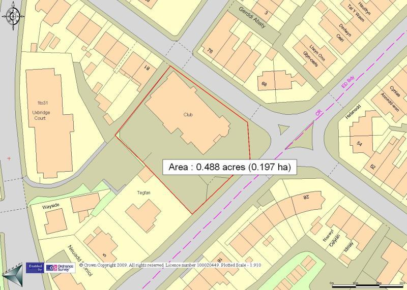 OS Map Of Site