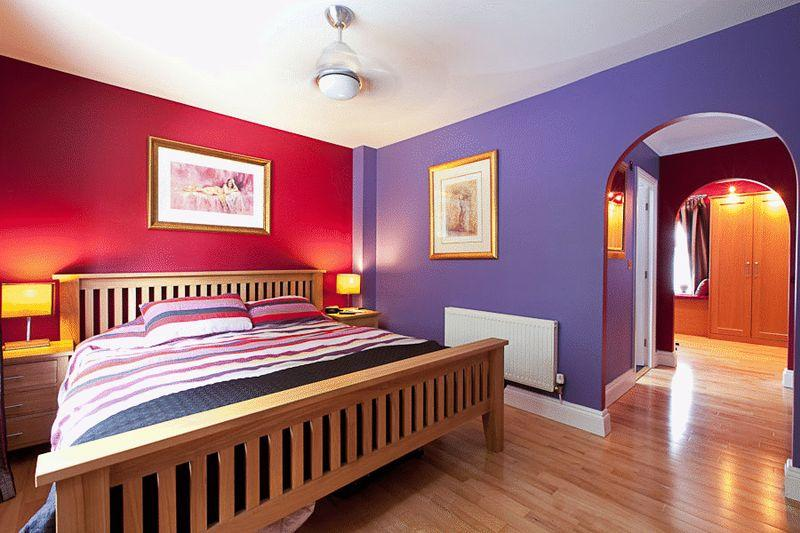 bedroom design ideas photos inspiration purple red white bedroom