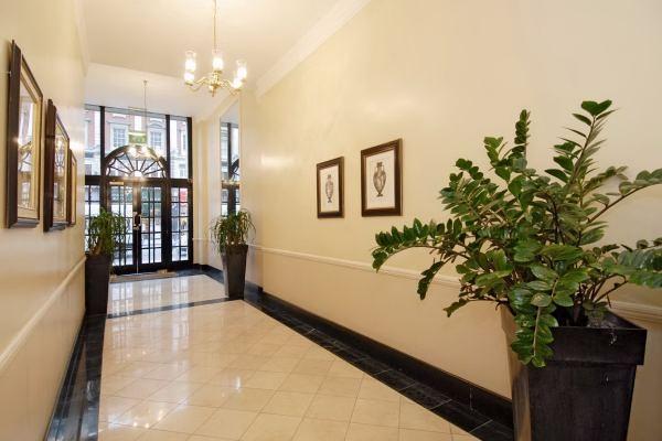Stafford Court lobby