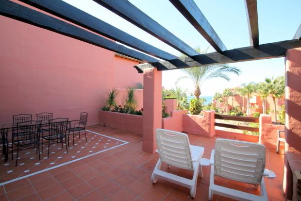Terrace upstairs