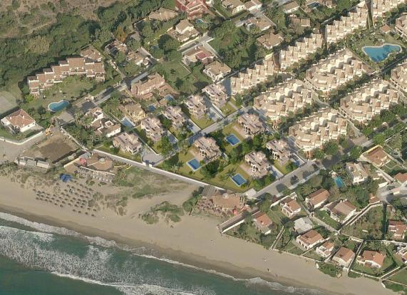 Aerial beach