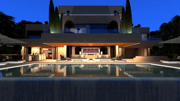 Evening pool