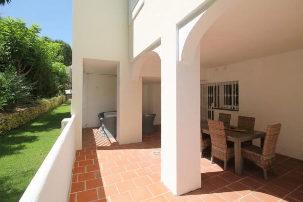 Back terrace area