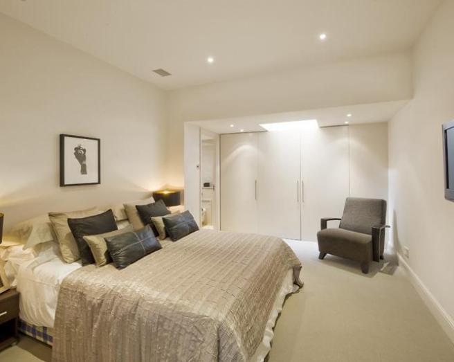 Beige Cream Sage Green White Ashwood Layered Cushions Bedroom
