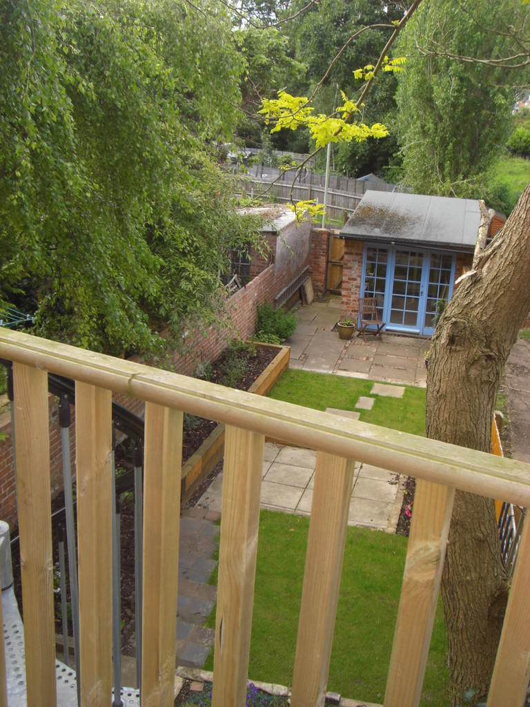 View from decked area to garden