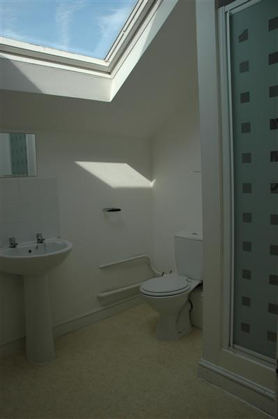 Shower room on the