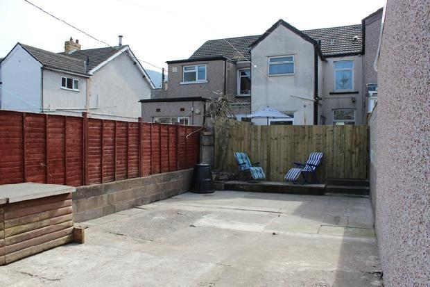 Enclosed Private Back Garden Raised Seating Area