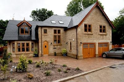 Front View,  Garden and Drive