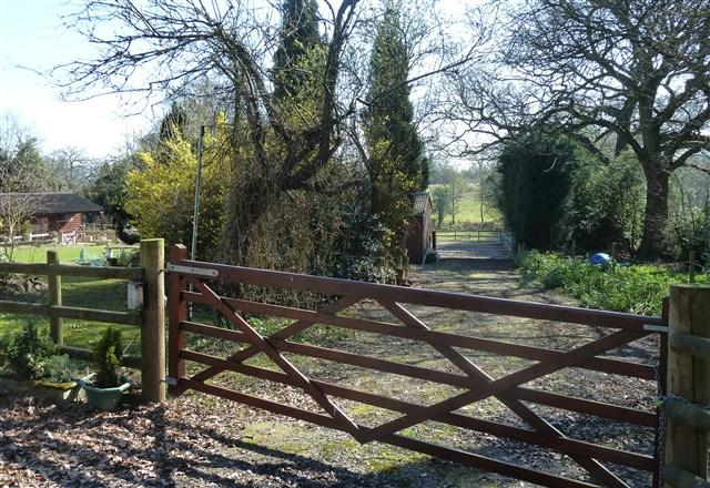 Gated Entrance to Stables