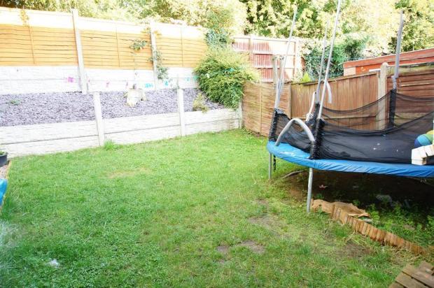 very private rear garden