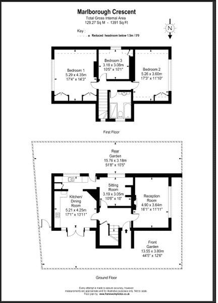 3 bedroom detached house to rent in marlborough crescent for Marlborough house floor plan