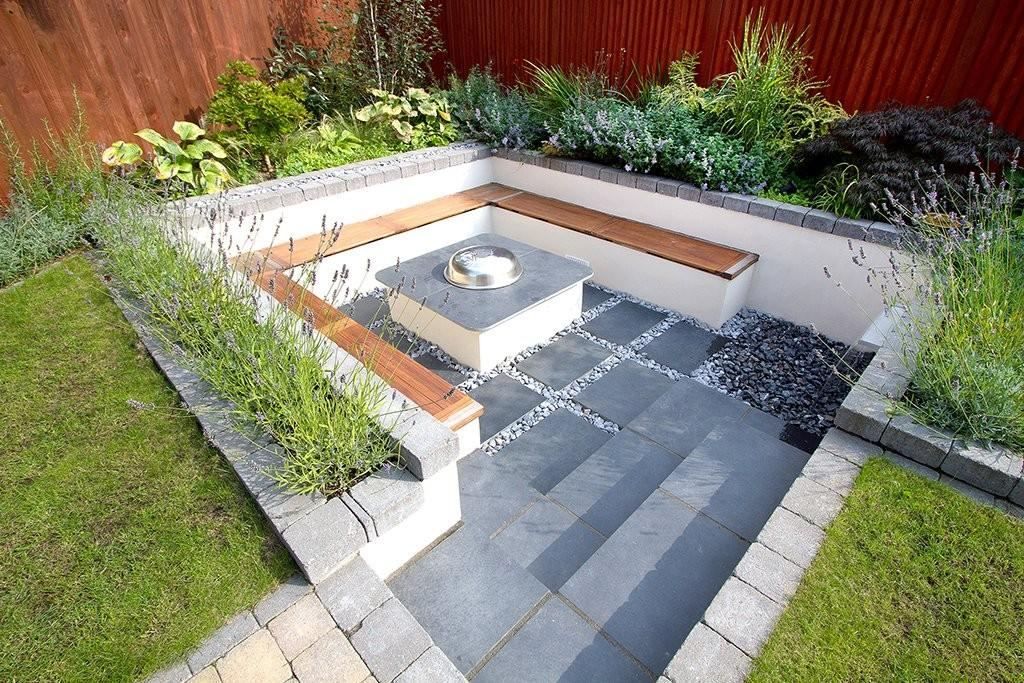 Sunken patio and ...