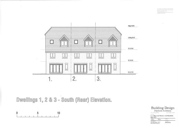 PLOTS 1 2 & 3 REAR ELEVATION