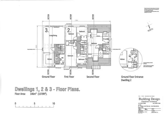 PLOTS 1, 2 & 3 FLOOR PLANS - GROUND, FIRST & SECON