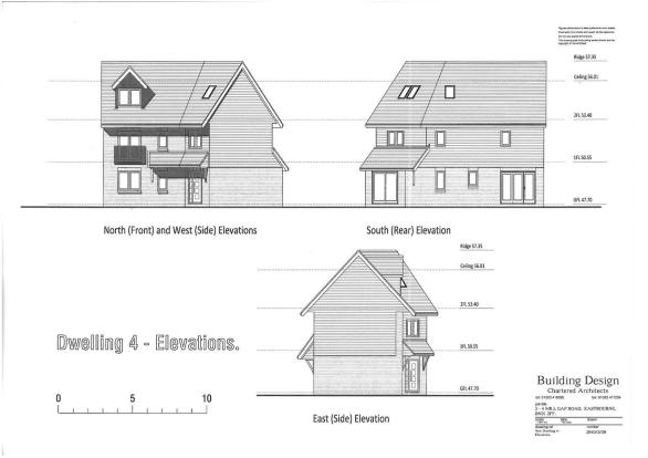 PLOT 4 - FRONT, REAR & SIDE ELEVATIONS