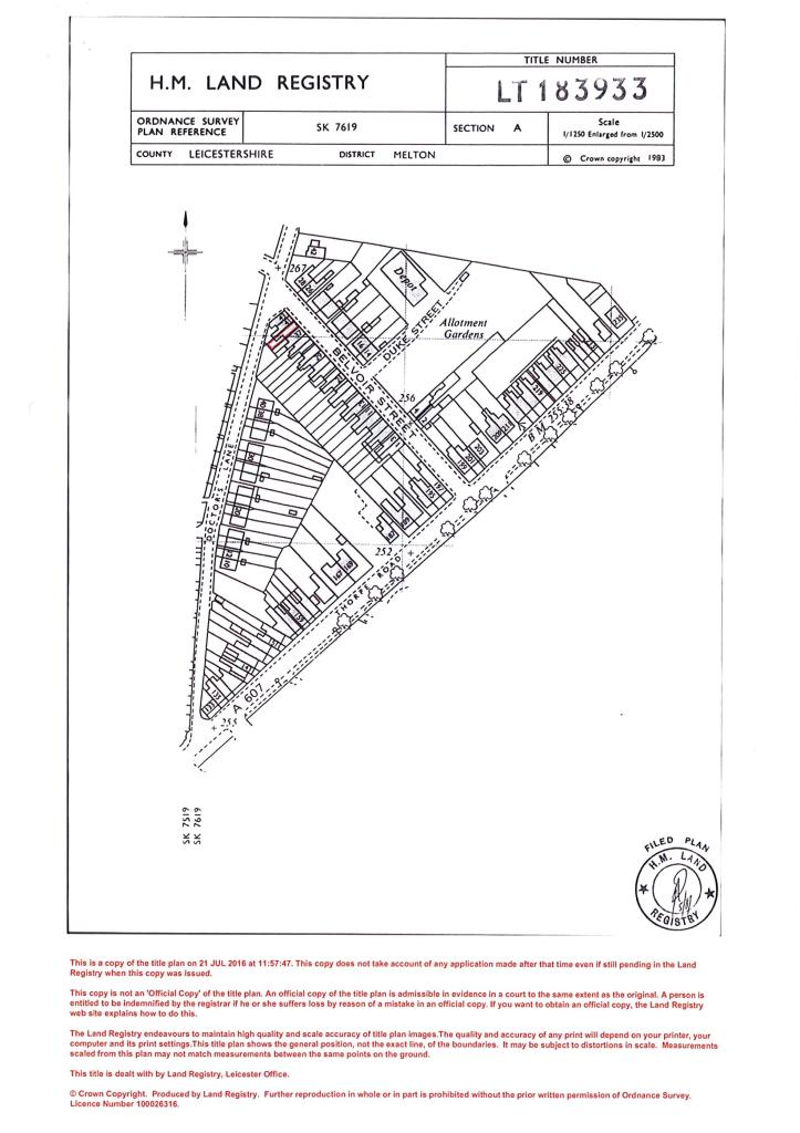 Land Title Plan