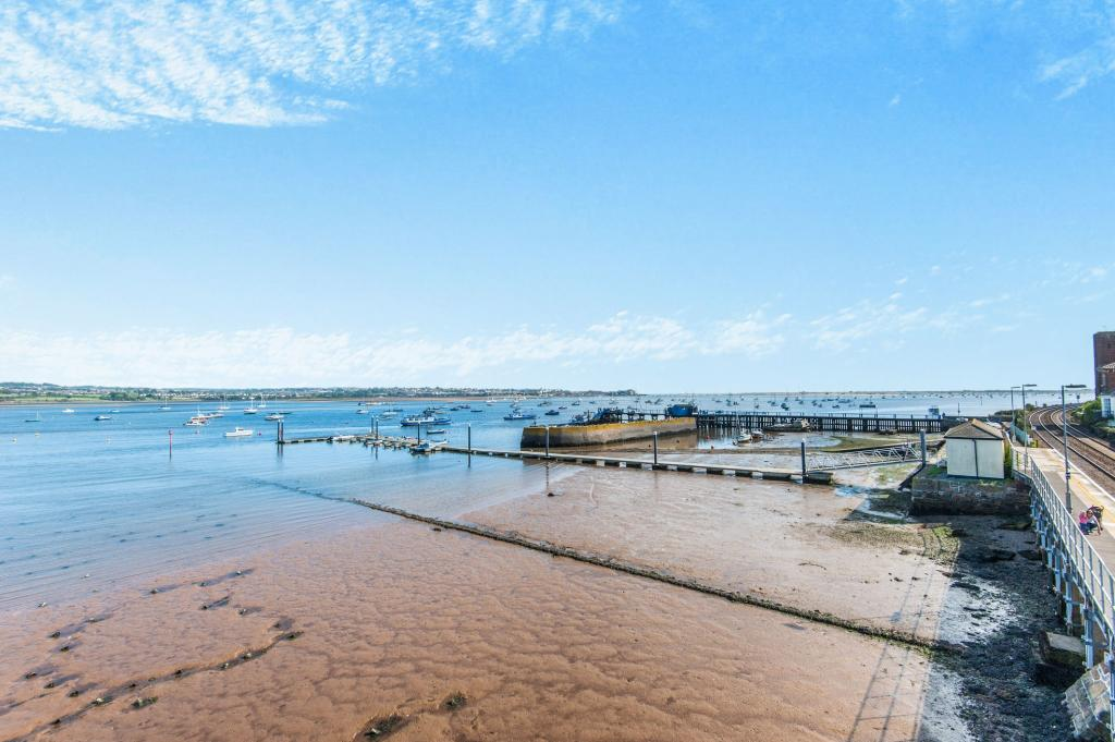 View over estuary to