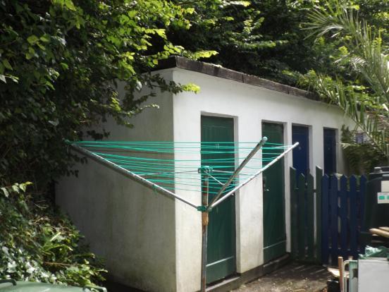 Rear sheds